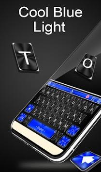Cool Blue Light Keyboard Theme APK screenshot 1