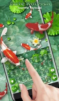 Cute Koi Fish Keyboard Theme APK screenshot 1
