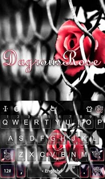 Dangerous Rose Keyboard Theme APK screenshot 1
