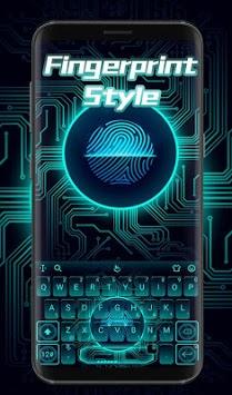 Fingerprint Style Keyboard Theme APK screenshot 1