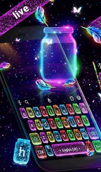 Lovely Live Glitter Bottle Keyboard APK screenshot 1