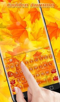 Golden Autumn Keyboard Theme APK screenshot 1