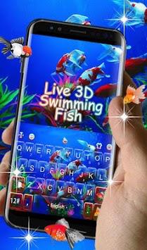 Live 3D Swimming Fish Keyboard Theme APK screenshot 1