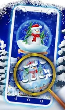 Live Christmas Snow Keyboard Theme APK screenshot 1