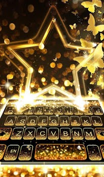 Live Golden Star Keyboard Theme APK screenshot 1