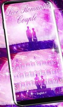 Live Romantic Couple Keyboard Theme APK screenshot 1