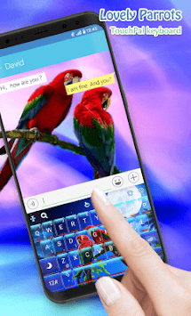 Lovely Parrots Keyboard Theme APK screenshot 1