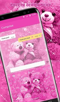 Lovely Bear Keyboard Theme APK screenshot 1