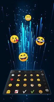 Neon Blue Power Button Keyboard Theme APK screenshot 1