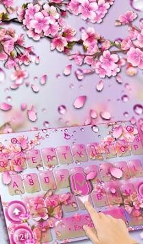 Pink Sakura Flower Keyboard Theme APK screenshot 1
