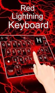 Red Lightning Keyboard Theme APK screenshot 1