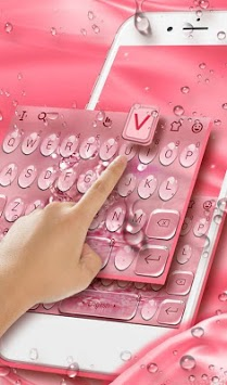Rose Gold Water Droplets Keyboard Theme APK screenshot 1