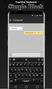 3D Simple Business Black Keyboard Theme APK screenshot 1
