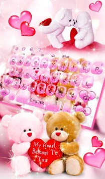 Cute Bears Keyboard Theme APK screenshot 1