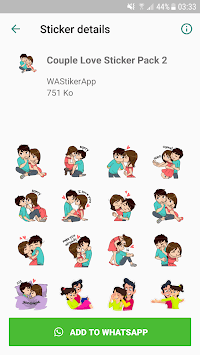 Love Sticker Packs For WhatsApp - WAStickerApps APK screenshot 1