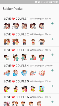 Couple Story Stickers Packs - WAStickerApps APK screenshot 1