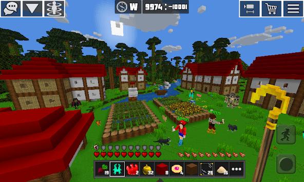 Planet Craft: Block Survival Craft Games Online APK screenshot 1