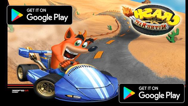 Racing Kart for Crash! Game Bandicoot Free APK screenshot 1