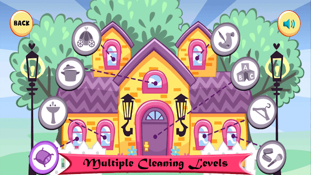 Doll House Cleaning Game for girls APK screenshot 1