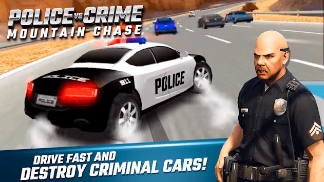 Police Vs Crime Mountain Chase APK screenshot 1
