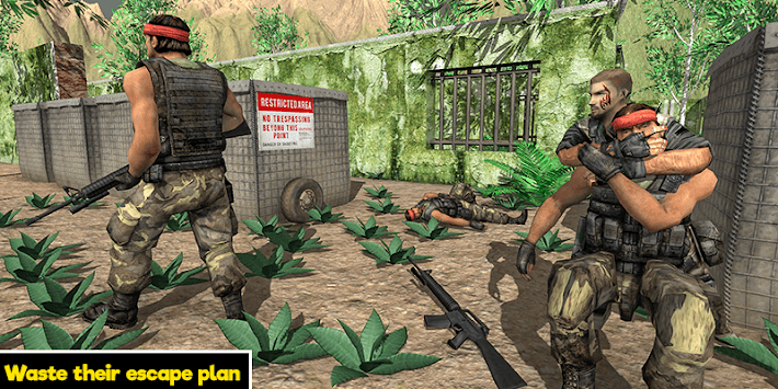 Commando behind the Jail- Escape Plan 2019 APK screenshot 1