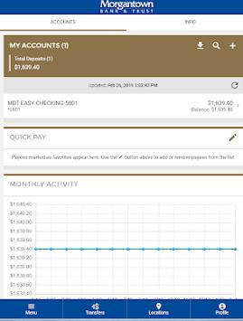 Morgantown Bank & Trust APK screenshot 1