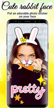 Cute Rabbit Photo Editor APK screenshot 1