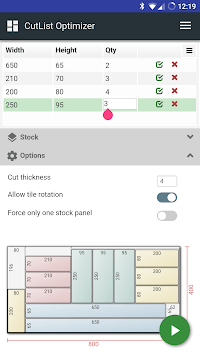 CutList Optimizer APK screenshot 1