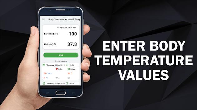 Body Temperature Diary : Fever Check Scan Tracker APK screenshot 1