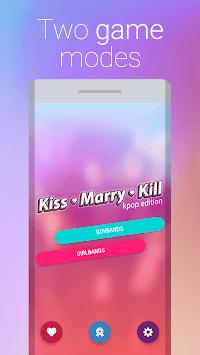 KPOP Kiss Marry Kill Game Challenge Quiz APK screenshot 1