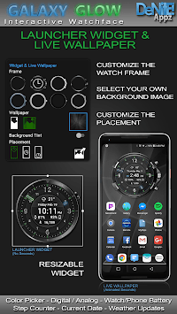 Galaxy Glow HD Watch Face Widget & Live Wallpaper APK screenshot 1