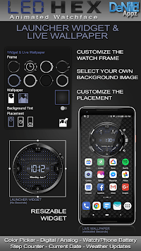 LED Hex HD Watch Face Widget & Live Wallpaper APK screenshot 1
