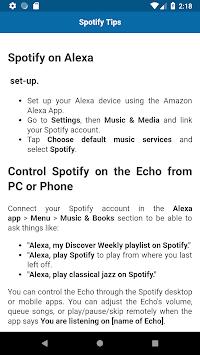 Tips and Tricks for Amazon Echo APK screenshot 1