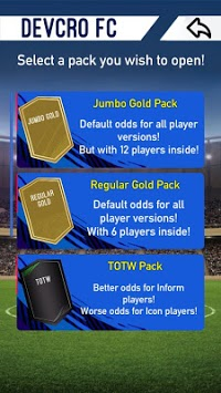 FUT 19 Pack Opener by DevCro APK screenshot 1