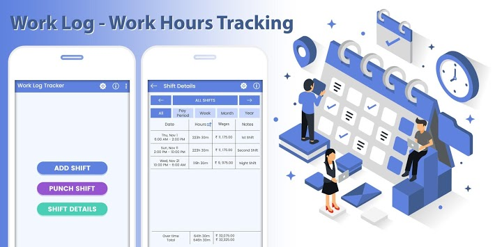 Work Log - Work Hours Tracking APK screenshot 1