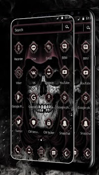 Devil Dark Skull Theme APK screenshot 1