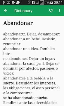 Diccionario Español APK screenshot 1