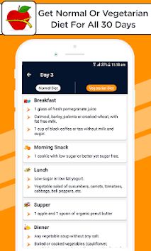 Diet Plan for Weight Loss, Fitness Food Plan APK screenshot 1