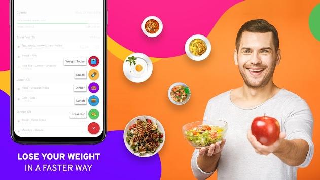 Diet Tracker, Plan to weight loss, Calorie Control APK screenshot 1