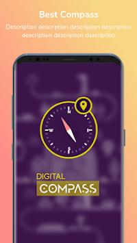 Digital compass - Map compass & Windy map APK screenshot 1