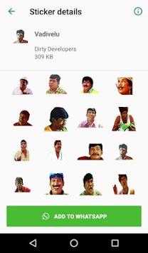 Tamil Stickers for WhatsApp (WAStickerApp) APK screenshot 1