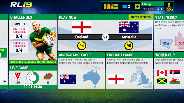 Rugby League 19 APK screenshot 1