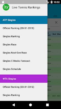 Live Tennis Rankings / LTR APK screenshot 1