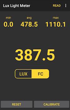 💡 Lux Light Meter Free APK screenshot 1