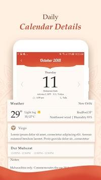 Hindi Calendar 2018 APK screenshot 1