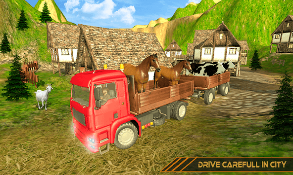 Offroad Animal Transport Truck Driver 3D APK screenshot 1