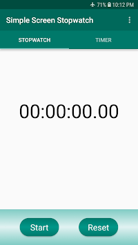 Simple Screen Stopwatch APK screenshot 1