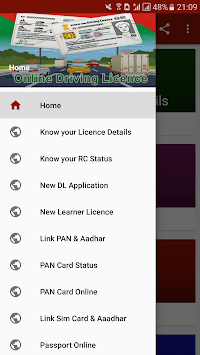 Driving Licence Online Status-India APK screenshot 1