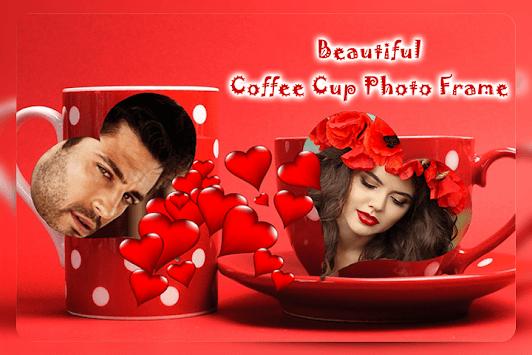 Coffee Cup Dual Photo Frames APK screenshot 1