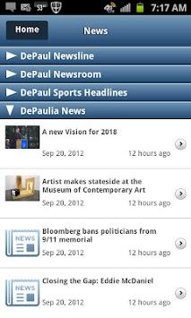 iDePaul APK screenshot 1